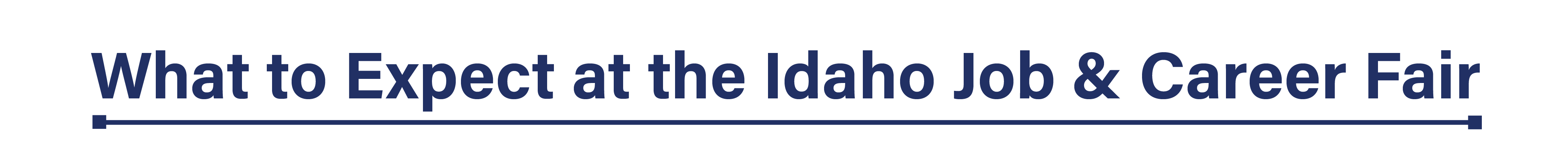 What is the Idaho Job & Career Fair header