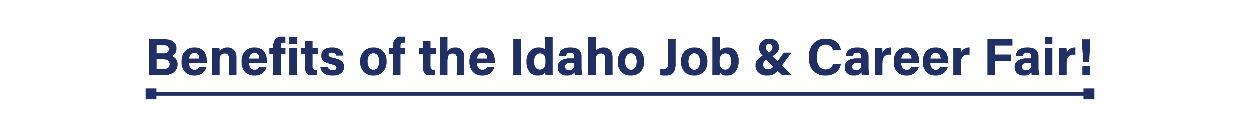 Benefits of the Idaho Job & Career Fair