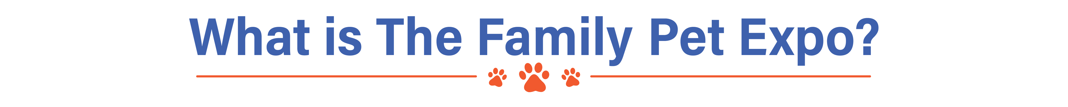 About Family Pet Expo header