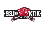 93.1 KTIK The Ticket logo